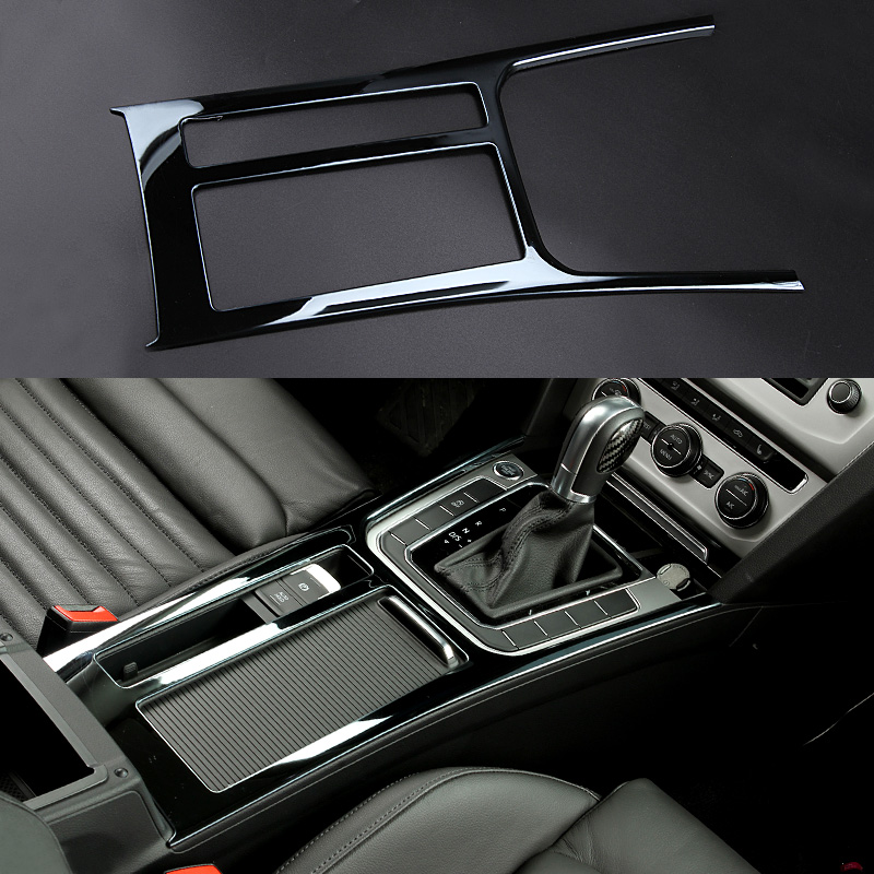 1pc Car styling central cup holder article cover console panel stickers for vw volkswagen 2016-17 passat B8 Variant Alltrack 3pcs oem black piano paint chrome car center console air condition vents for passat b6 b7 cc r36 3ad 819 701 a 3ad 819 702 a