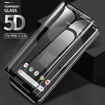 Перейти на Алиэкспресс и купить 5D Защита экрана для Google Pixel 4 3 XL Олеофобная пленка из закаленного стекла для Google 3 XL 3A xl изогнутое защитное стекло