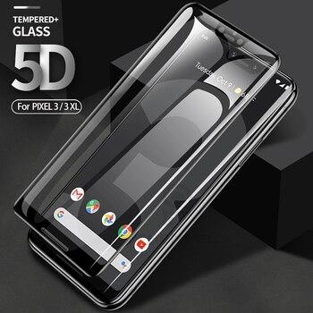 Перейти на Алиэкспресс и купить 5D Защитная пленка для Google Pixel 4 3 XL, изогнутое закаленное стекло для Google 3 XL 3A xl