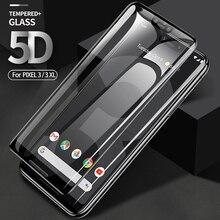 Protector de pantalla para Google Pixel 4 3 XL, película de vidrio templado OLEOFÓBICO para Google 3 XL 3A xl, vidrio Protector Curvo