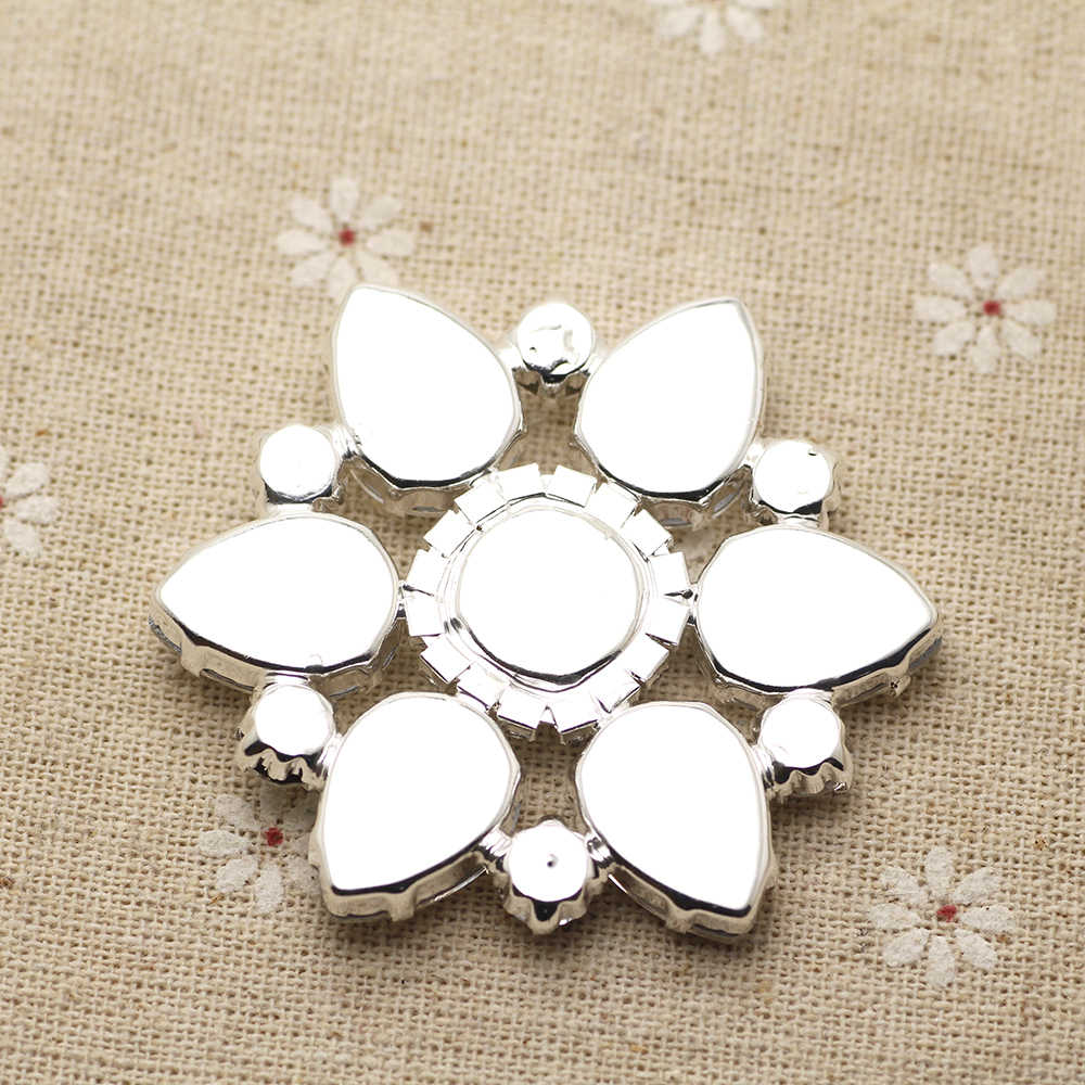 268acd1f36 58mm Flower Shape crystal Sew On Rhinestone With Claw Setting Gold Back  Fancy Stone Rhinestone applique Buttons For Garments