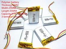 Rdzeń z polimeru litowego MODEL 582535 602535 litowo-polimerowa 3.7 v 600 mah 1.7wh tachografu wspólne akumulatory