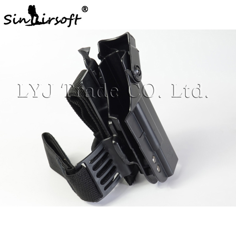 US $35 18 12% OFF|NEW! Tactical Pistol Drop Right Leg Thigh Holster for  Glock 17 18 19 21 22 23 26 30 High quality Leg Holster Black Free  Shipping-in