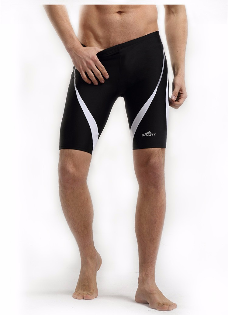 2017 Arena Swimwear Men Competition Swimsuit Bathing suit swimming pants Low waist Tight Training Shorts Body Suit Jammers Black