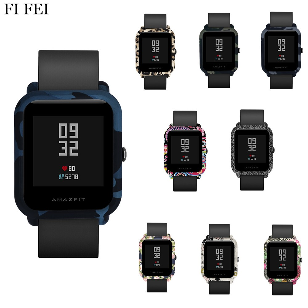 FI FEI Pattern Colorful Protective PC Case Cover for Xiaomi Amazfit Bip BIT PACE Lite Youth Huami Watch Shell Watch Accessories mijobs 20mm silicone wrist strap protective case cover plastic pc shell for huami xiaomi amazfit bip bit pace lite smart watch
