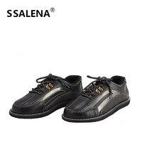 Обувь для боулинга Для мужчин Высокое качество легкие туфли на шнуровке Боулинг дышащая обувь с нескользящей подошвой Особенности кроссов