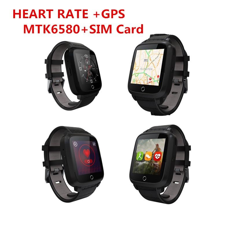 imágenes para Bluetooth smart watch u11s 1g ram 8g rom memoria mtk6580 quad core pulsómetro android 5.1 smart watch con cámara