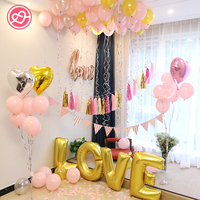 Hot 66 Pcs/Lot Love Heart Shape Balloons Helium Foil Balloons Wedding Valentine's Day Birthday Party Decoration Supplies Globos