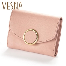 купить 2019 New Fashion Women Wallet Female Purse Leather Small Wallets Women Coin Purse Money Bag Lady Credit Card Holder WWS051 по цене 353.01 рублей