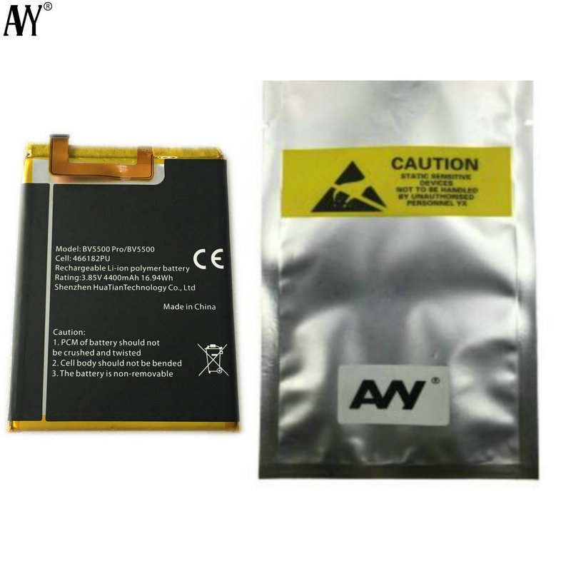 "AVY Original Battery 466182PU For Blackview BV5500 & BV5500 pro 4400mAh 5.5""Mobile Phone Batteries Replacement Repair Part(China)"