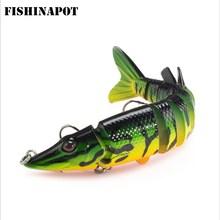 FISHINAPOT 1PC 12.5cm 20g Muti-segement Isca Mesterséges Bass Pike Hard Lure Bend Halászati csalik Crankbait Hard Csali Ingyenes szállítás