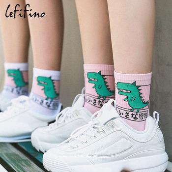 Japan Harajuku Women Cute Cartoon Animal Dog Dinosaur Cat Cotton Socks Lovely Men Funny Novelty Creative Unisex Ne73030