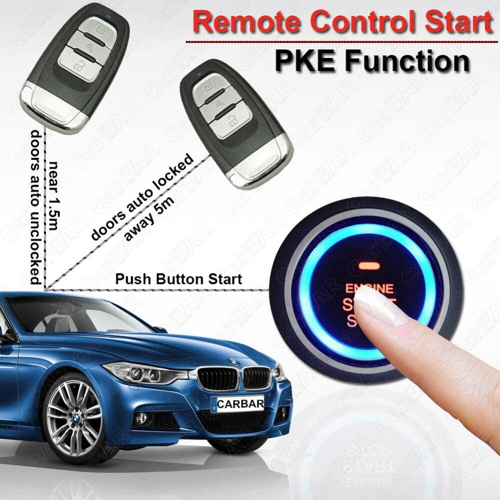Pke alarme de voiture Start Stop bouton système d'entrée sans clé de porte de voiture verrouiller déverrouiller automatiquement démarrage à distance voiture CARBAR