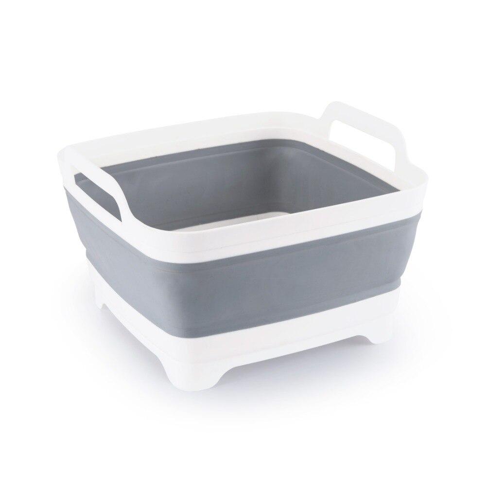 Lavado de plástico cesta de frutas vegetales creativo plegable que acampa Portable pesca cocina baño Herramientas de limpieza accesorios al aire libre