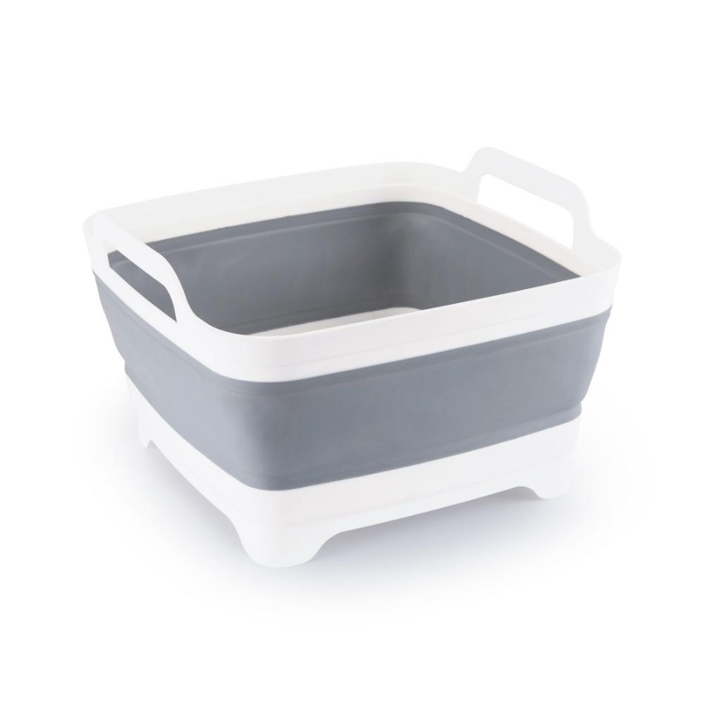 Lavaggio di plastica Verdura cesto di Frutta Pieghevole Creativo Portatile di Campeggio di Pesca Cucina Bagno di Strumenti Per La Pulizia Accessori Per Esterni