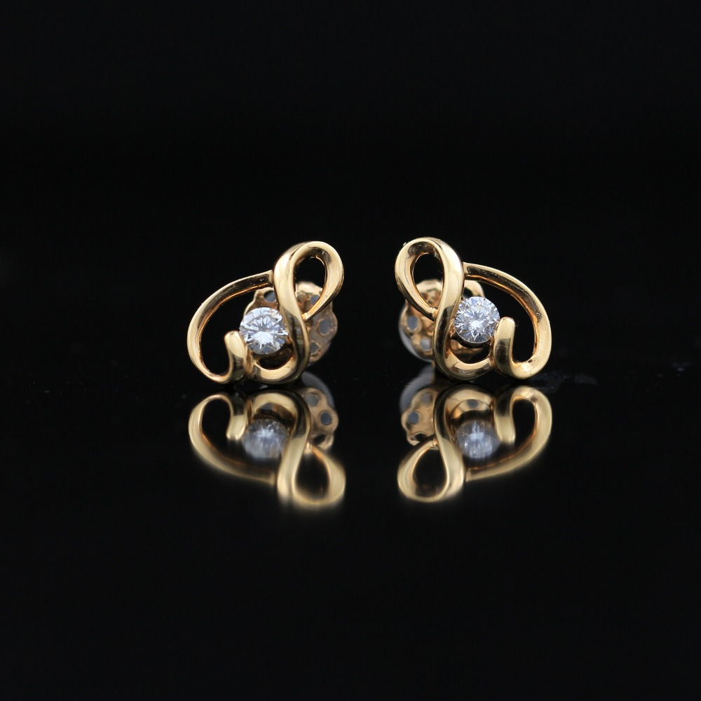 LASAMERO 0.136CT Round Cut Natural Diamond Cluster Earrings 18K Gold Diamond Halo Stud Earrings Fine Jewelry Earring Studs