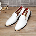 Fashion Men's Crocodile Grain Dress Shoes Casual Men Loafers Embossed Genuine Leather Shoes Men Flats Slip on Wedding Party Shoe