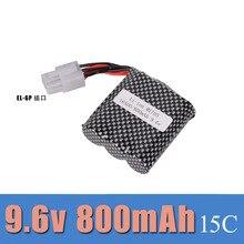 9 6V 800mAh EL 6P big foot off road high speed vehicle charging lithium font b