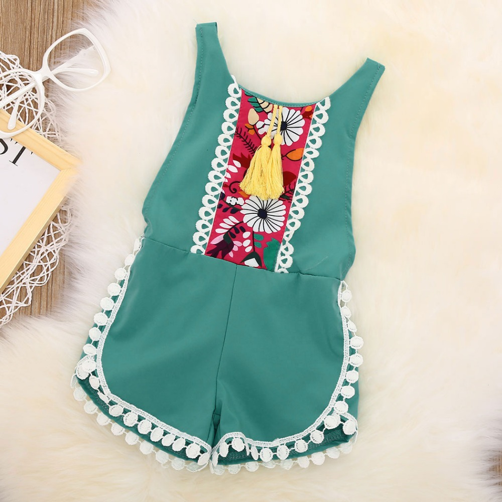 Baby Sleeveless Bodysuit Summer Sleeveless Romper Girl Kid Baby Jumpsuit Floral Clothes Newborn Outfits pudcoco newborn baby girl clothes 2017 summer sleeveless floral romper backless jumpsuit sunsuit children clothes