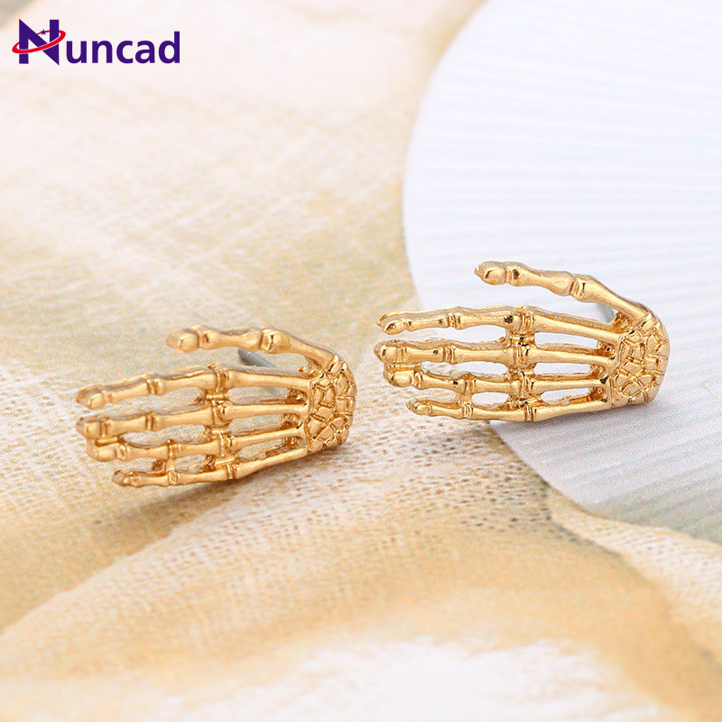 New Fashion Retro Jewelry Punk Style Palm Earrings Gold Color Hand Drop Earring Best Gift For Gril Wholesale