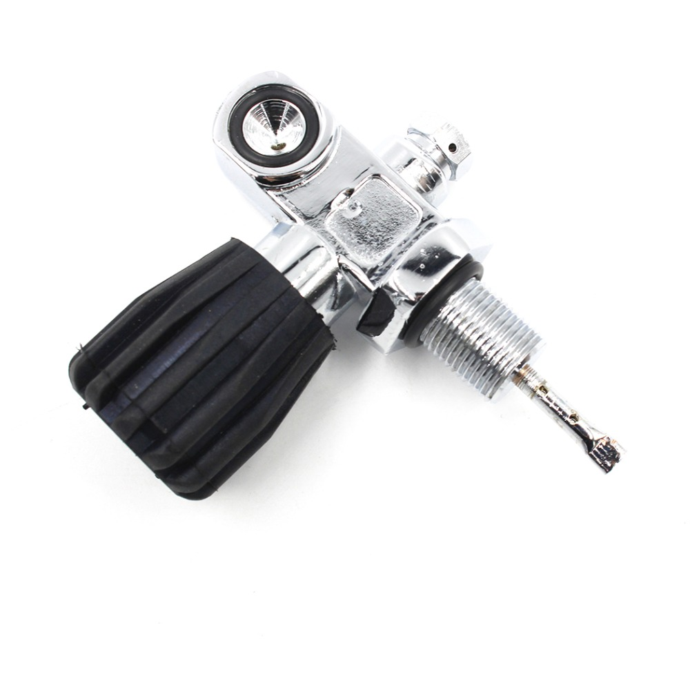Scuba Diving PCP Paintball Tank Convertible Din Valve K Yoke Valve Chrome M18x1.5 200bar K valve Carbon Fiber Aluminum Cylinder