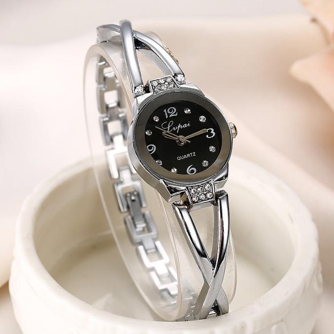 100% QualitäT Neue Mode Strass Uhren Frauen Luxus Marke Edelstahl Armband Uhren Dame Quarz Kleid Uhren Reloj Mujer Lvpai Preisnachlass