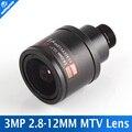3.0 Megpixel HD Cámara CCTV Lente de Iris Fijo 2.8-12mm Varifocal IR cámara HD seguridad IP Cámara Lente de Zoom Manual y Enfoque Montaje M12 F1.4