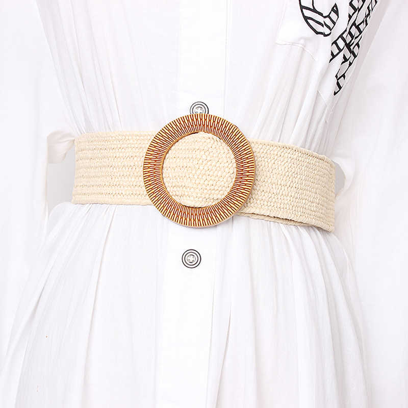 TWOTWINSTYLE летние винтажные широкие пояса для женщин с высокой талией полосатые пояса женские платья аксессуары 2019 Мода Новинка