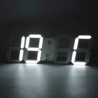 Large 3D Modern Digital LED Wall Clock 24/12 Hour Display Timer Alarm Home