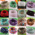 "Stretch Chip beads Weave Natural Garnet Shell Amethyst Crystal Coral Quartz Opal Fluorite Agate Bracelet 7"" 1Pcs"