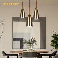 Industrial Pendant Light Nordic pendant Lamp Loft Wooden light fixtures hanging lamp for living room bedroom Restaurant lighting