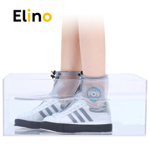 Elino PVC Fashion Waterproof Rain Shoe Cover for Men Women Shoes Protective Reusable Boot Covers Overshoes Boots Accessories