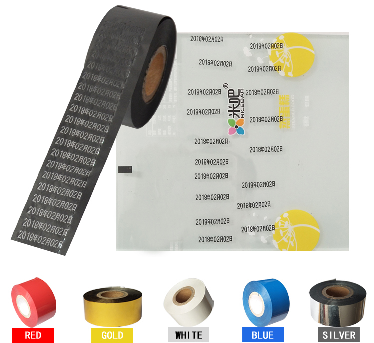 Black Width 35mm length 100m hot foil printer ribbon for packing bags in Tool Parts from Tools