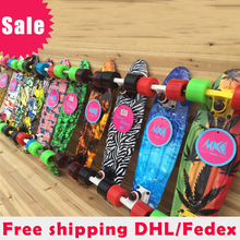 New Floral Printed Peny Style Board Pnny Style Skateboard Complete Retro Girl Boy Cruiser Mini Longboard Skate Fish Long Board(China)
