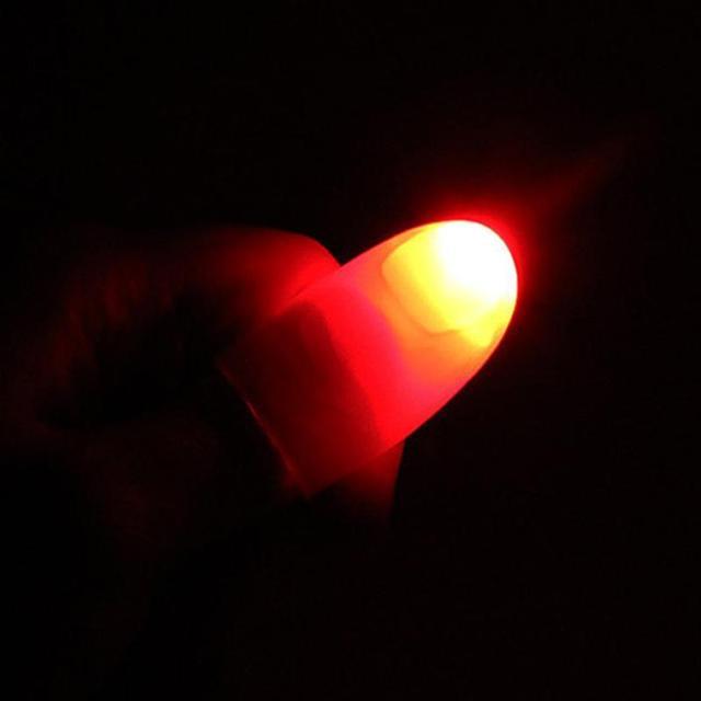 Creative Magic LED Laser Gloves Light Magic Trick Finger Lights