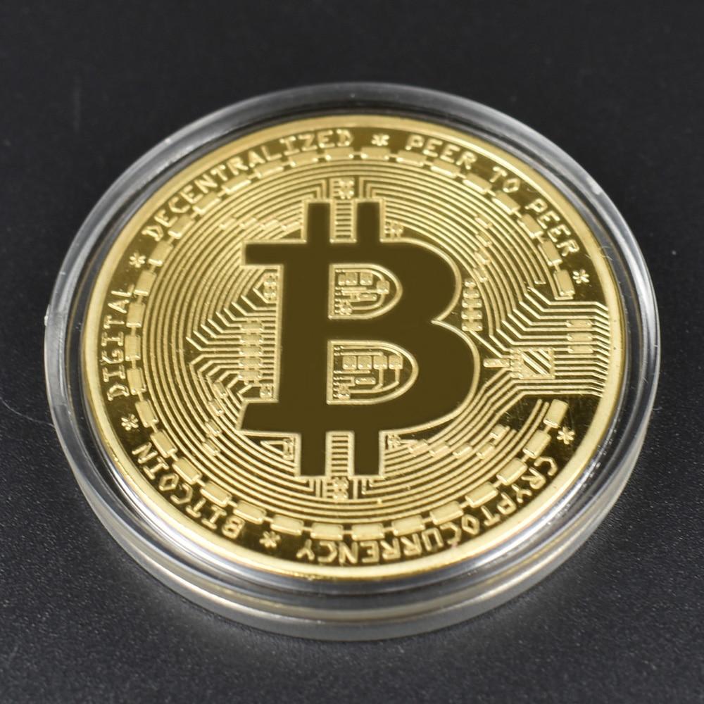 Cheap Bitcoin Coin Bit Cryptocurrency BTC Coin Ripple Dash Cardano Fil IOTA Shiba Metal Physical Coin With Plastic Shell 1