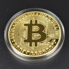 Cheap Bitcoin Coin Bit Cryptocurrency BTC Ripple Metal Physical With Plastic Shell