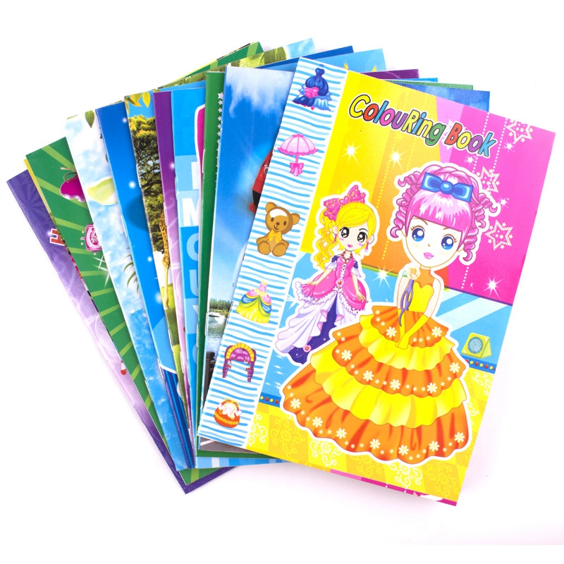 12PCS/LOT ColouRing Book Children cartoos