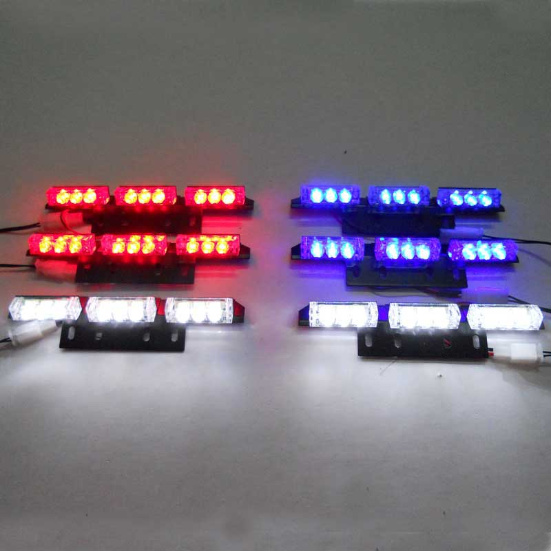 Red Blue White Green Amber 6x9 LED LAMP STROBE POLICE EMERGENCY FLASHING FLASH WARNING LIGHT FOR CAR TRUCK GRILLE 3 MODES