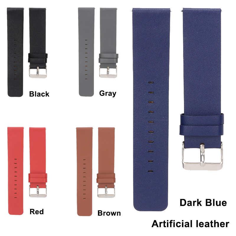 5 צבעים צמיד רצועת השעון עור אמיתי להחלפה שעון יד בנד רצועת להקת שעון עור מלאכותי עבור Fitbit Blaze