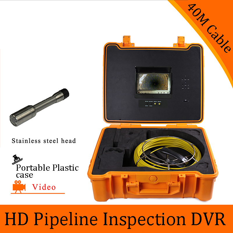 (1 set) 40M Cable Pipeline Sewer Inspection Camera With DVR Function Endoscope CMOS Lens Waterproof night version CCTV system цена