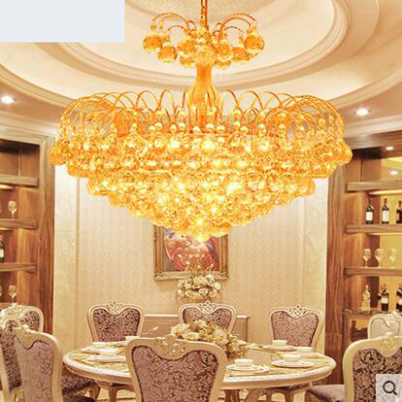 Crystal chandelier Restaurant chandeliers European living room chandeliers Golden lighting Bedroom chandeliers Study LED lamp цена