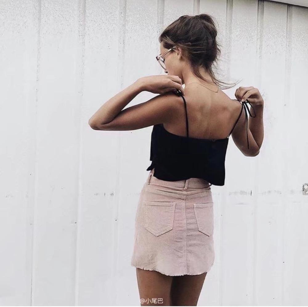 HTB19BdySFXXXXXVXVXXq6xXFXXX7 - Pink pencil skirt zipper mini skirts womens PTC 201