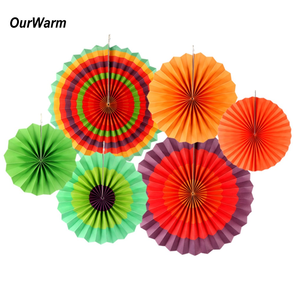 Aliexpress buy ourwarm 6pcs fiesta party decorations mexican aliexpress buy ourwarm 6pcs fiesta party decorations mexican paper fan wedding backdrop cinco de mayo paper flowers birthday party supplies from mightylinksfo