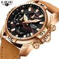 LIGE 2019 Mode Für Männer Sport Uhr Männer Analog Quarz Uhren Wasserdicht Datum Military Multifunktions Handgelenk Uhren Männer Uhr + box