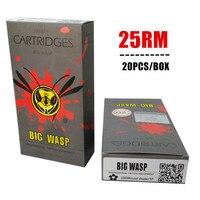 BIGWASP Gray Disposable Needle Cartridge 25 Curved Magnum (1025RM) 20Pcs/Box Free Shipping|needle cartridge|cartridge needle|box free -