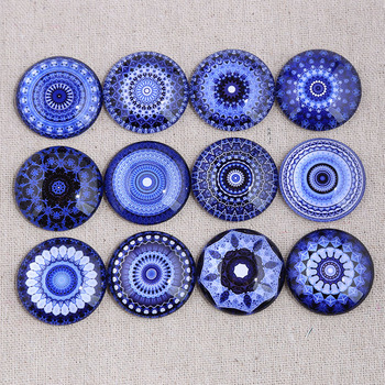 reidgaller mix blue mandala photo round glass cabochon 12mm 14mm 18mm 20mm 25mm 30mm diy earrings pendants findings for jewelry 10mm 12mm 16mm 20mm 25mm 30mm 542 animal flower mix round glass cabochon jewelry finding 18mm snap button charm bracelet