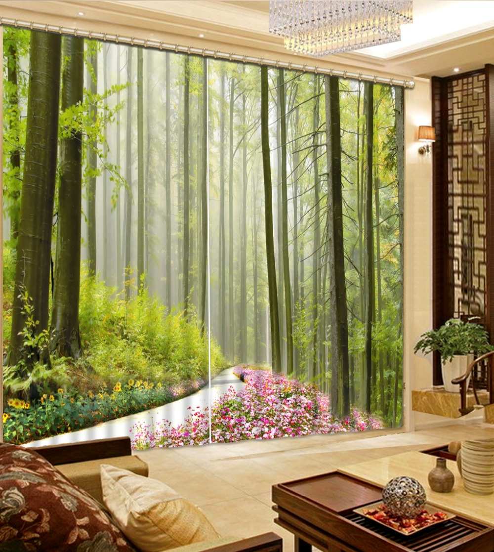 customize 3d blackout curtains mountain road landscape curtains for living room kitchen curtains modern curtains