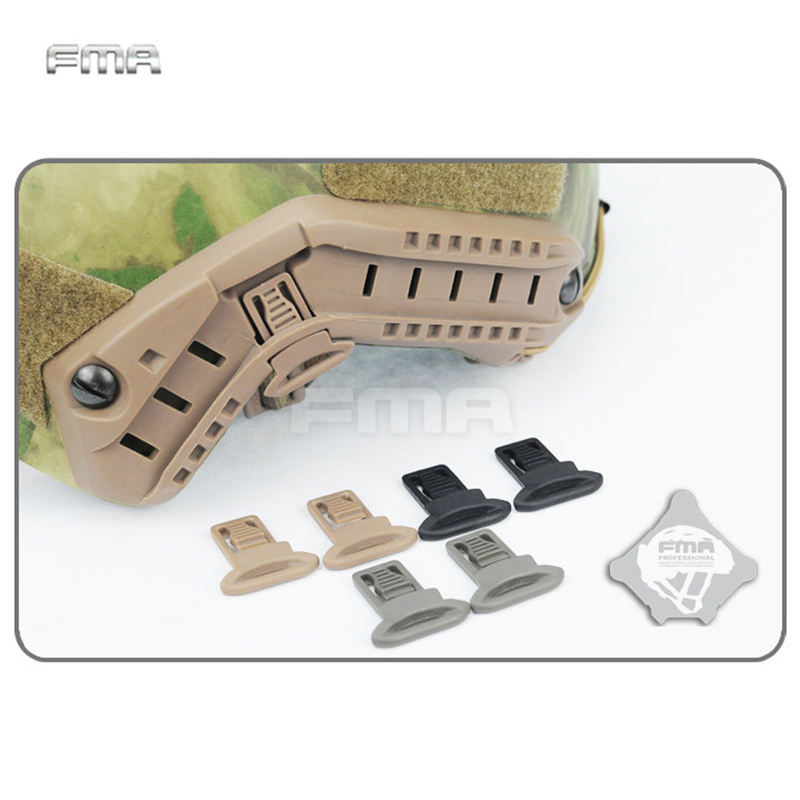 FMA Goggle Swivel Clips Set For Helmet Side Rails Wargame Paintball Airsoft Tactical Combat Plastic Mount Helmets Accessory