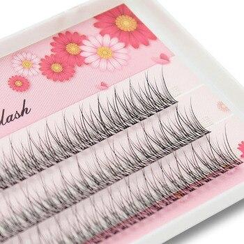 Kimcci 120 Bundles 3D Mink Individual Dovetail Eyelash Extension Makeup Natural 3D Cluster Eyelashes Professional Flared Lashes